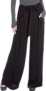 005e327c466 Max Studio London Womens Satin-Trim Wide Leg Dress Pants Black XS