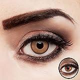 Farbig braune Kontaktlinsen für dunkle Augen natürlich farbige Jahreslinsen hellbraun