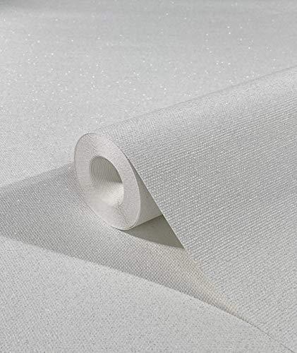 marburg Tapete Weiß Struktur für Schlafzimmer oder Wohnzimmer Vliestapete 100% Made in Germany PREMIUM QUALITÄT 10,05 x 0,53m 32630