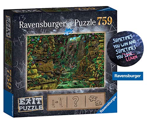 Collectix EXIT 759 Teile Ravensburger Puzzle 199518 - Exit 2: Tempel in Angkor Wat, ab 12 Jahren + 1 Cooler Sticker Sometimes You Win.. by gratis