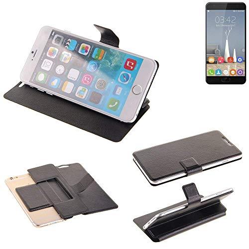 K-S-Trade® Schutz Hülle Für Oukitel K6000 Plus Schutzhülle Flip Cover Handy Wallet Case Slim Handyhülle Bookstyle Schwarz