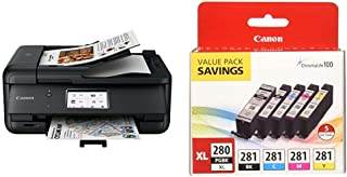 $241 » Canon TR8620 All-in-One Printer for Home Office,Black with Canon PGI-280XL/CLI-281 5 Color Pack
