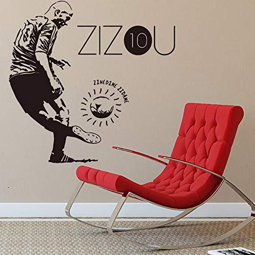 pegatina de pared frases Zinedine Zidane Zizou Jugador de f