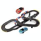 LINGLING Track Racing Set Slot Car Race Pistas de Juguete Control Remoto de Alta Velocidad Speedway 3-12 años Niños y niñas Regalo de cumpleaños Montaje eléctrico Creativo