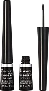 Rimmel Exaggerate Felt Tip Eye Liner, Black - Easy Precise Application Long Lasting Felt Tip Liquid Eye Liner Pen