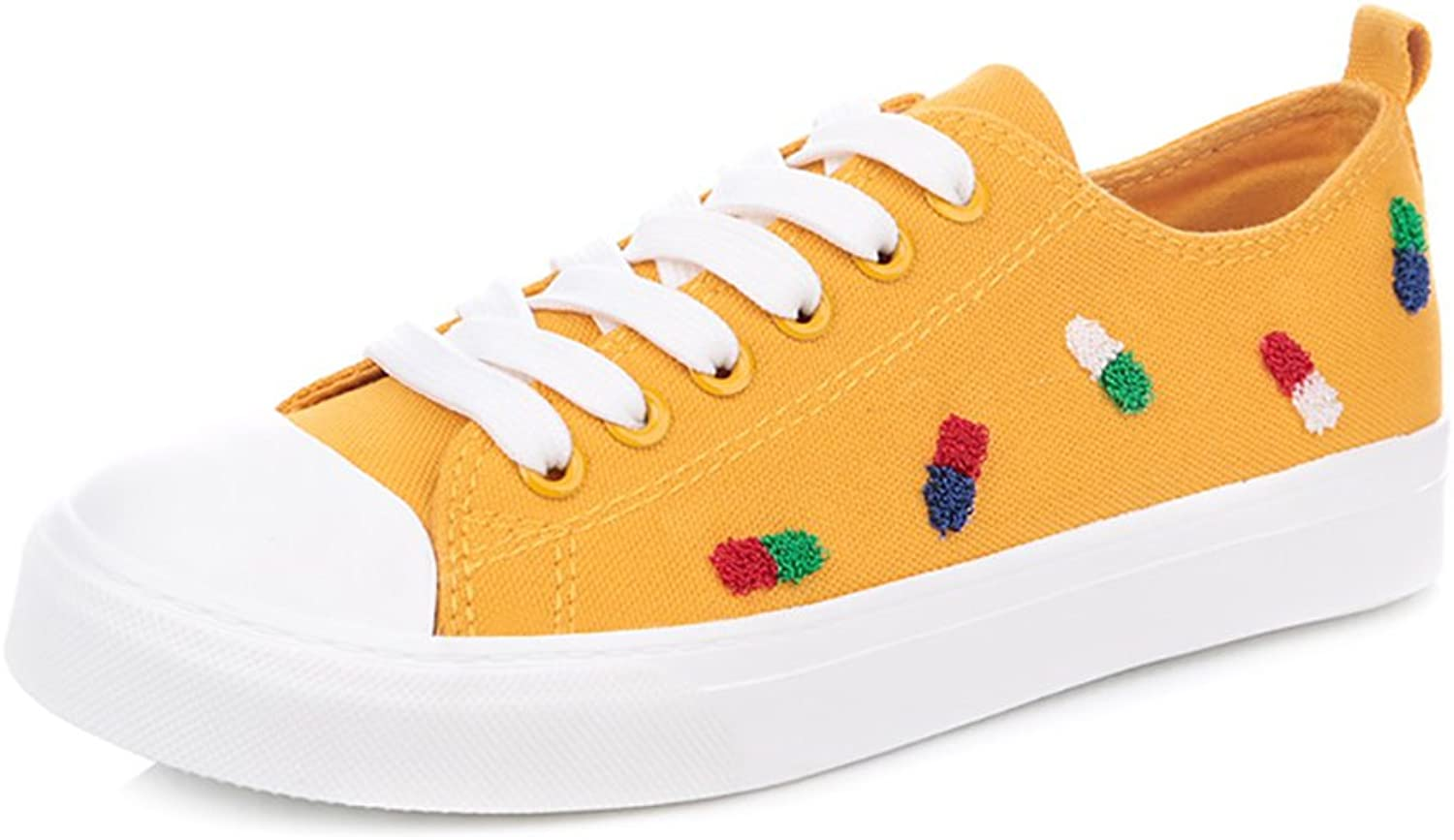 Fashionable Canvas shoes Women Sports shoes Casual shoes ( color   Yellow , Size   35 )