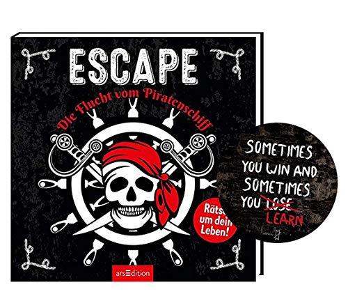 Ars Edition Escape – Die Flucht vom Piratenschiff, spannende Rätsel + Escape-Sticker ab 9