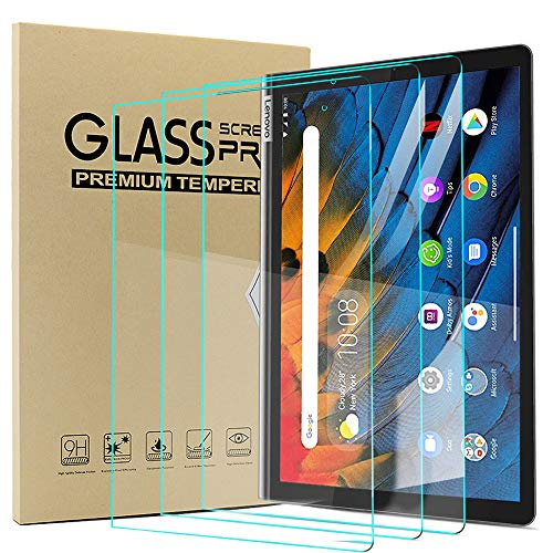 Msm-case [3 Pack] Compatible with Lenovo YOGA Smart Tab 10.1 Inches 2019 Tablet - Tempered Glass Screen Protector - [3D Round Edge][9H Hardness] [Crystal Clear][Scratch Resist],Clear