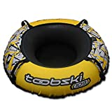 """Toobski 109 Spider Snow Tube with 48"""" Cover and Safety Valve - Heavy-Duty Sledding Tube - for Kids and Adults Connectable with Included Carabiner and Includes 6-ft Tow Strap (Lightning Yellow)"""