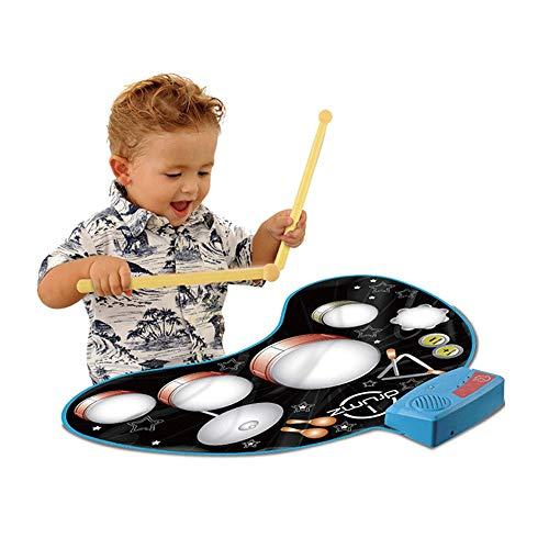 THREEW Kleinkinder Früherziehung Puzzle Aufklärung Handtrommeln Lernen Percussion Musik Spielen Musik Spielzeug Decke Spieldecke