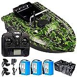 Barco Cebador Pesca Inteligente, 500M Barco Cebador Carpfishing Teledirigidos con GPS y Motores Duales, Batería 5200 / 12000mAH Opcional, Mejor Regalo para Los Amantes de la Pesca.