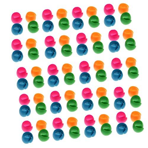 freneci 80 Teiliges Silikon Gewindespulen Werkzeug Nähhalter Huggers Für DIY Spulen Clipklemmen