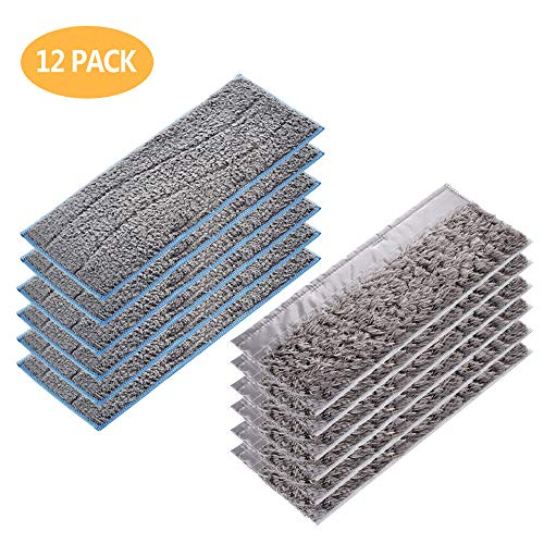 JUMBO FILTER 12 Pack Replacement Mopping Pads, 6 Pack Washable Wet Mop Pads & 6 Pack Reusable Dry Sweeping Pad Reusable for iRobot Braava Jet m Series m6 Robot Mop