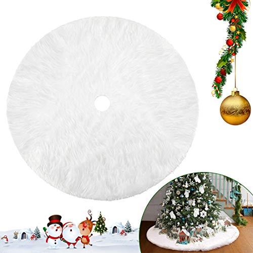 Bluelves Weihnachtsbaum, Weihnachtsbaum Rock, Weihnachtsbaum Decken Weiße Plüsch, Weihnachtsbaumdecke Rund, Christbaumdecke, Weihnachtsbaum Deko, 78 cm