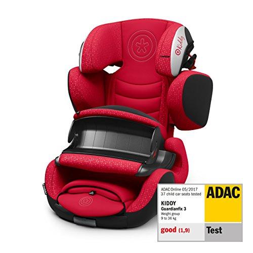 Kiddy Guardianfix 3 Siège auto pour enfant (groupe 1/2/3) (de 9 mois à 12 ans) (env. 9 kg à 36 kg) avec Isofix | Collection 2019 | Rouge bonbon