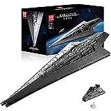 Technic Star Destroyer Model, 7588 Piezas Grandes UCS Super Star Destroyer Moc Bloques de sujeción Juego de construcción Compatible con Lego Star Destroyer Static,134 * 48 * 20