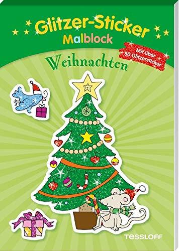 Glitzer-Sticker-Malblock. Weihnachten: Mit 50 glitzernden Stickern (Malbücher und -blöcke)