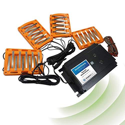 ISOTRONIC 3in1 Marderabwehr BLITZ Marder-Frei für Auto KFZ Anschluss Autobatterie 12V Marderschock Marderscheuche Marderfrei Marderschutz mit Hochspannung, LED-Blitzlichtfunktion Hochfrequenz Ultraschall, wasserdicht