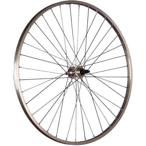 Taylor-Wheels 28 Zoll Hinterrad Büchel Alufelge/Schraubkranzaufnahme 5/9-fach - Silber