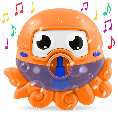 CHUCHIK Baby Bath Toy, Octopus Bath Bubble Maker for Shower and Bathtub. Bubbles tub Machine for Babies Toddlers, Makes The Best Bathtub Toys time.