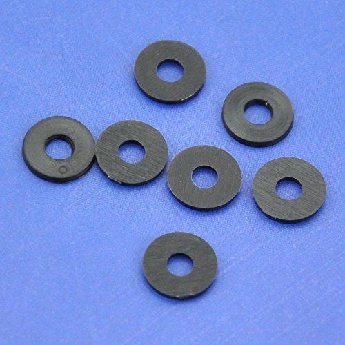 Electronics-Salon 100pcs schwarz flach Nylon Waschmaschine für M3 Schrauben, OD 8 mm ID 3 mm T 1 mm