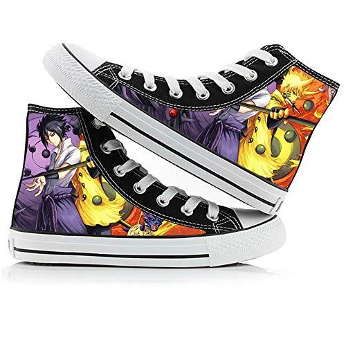 CXWLK High Gang Naruto Sneaker Schuhe Auf Leinwand Anime Unisex Turnschuhe Schnüren Segeltuch 37