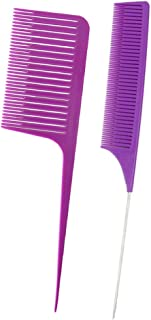 Baosity -resistant Fine&Wide Tooth Weaving Highlight Foiling Hair Combs Brush