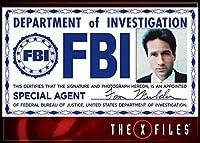 X-Files Mulder FBIバッジフォトマグネット
