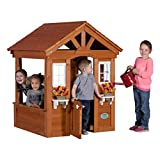 Product Image of the Backyard Discovery Columbus All Cedar Wood Playhouse