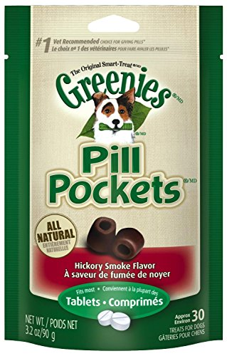 Greenies hickory smoke flavor pill pocket treats for dogs 30 count per pack 2 pack 60 count total