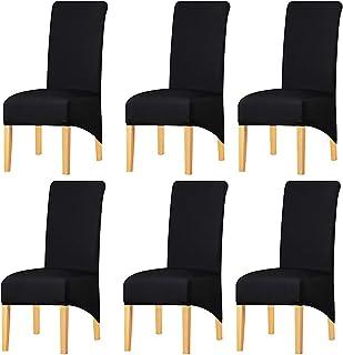 comprar comparacion KELUINA Estiramiento sólido con respaldo altoCubiertas de silla XL para comedor, fundas de silla de comedor grandes de S...