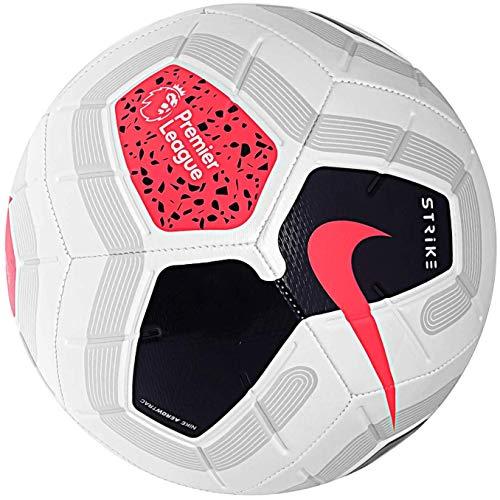 NIKE Strike Professional Football Premier League 2019-2020, Blanco/Negro Rojo, Talla 4