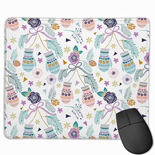 Bunte Handschuhe mit Blumen Rechteckiges rutschfestes Gaming-Mauspad Tastatur Gummi-Mauspad für Heim- und Büro-Laptops