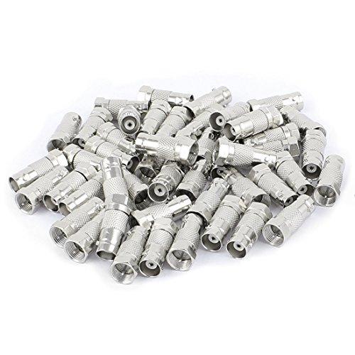 Aexit 50 Stücke F Typ Stecker auf Buchse Gerade RF Coax TV Adapter Anschlüsse Silber Ton (215b8036821b879f3de2187bbac492b5)