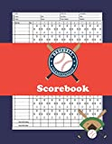 Baseball Scorebook: Vintage Baseball Log Book,100 Scoring Sheets For Baseball and Softball...