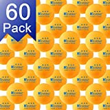 KEVENZ 60-Pack 3-Star 40+ Orange Table Tennis Balls,Advanced Ping Pong Ball