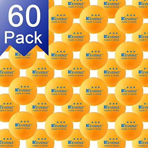 Lowest Prices! KEVENZ 60-Pack 3-Star 40+ Orange Table Tennis Balls,Advanced Ping Pong Ball