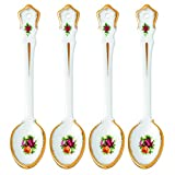 Royal Albert Old Country Roses Set of 4 Spoons, 5.9