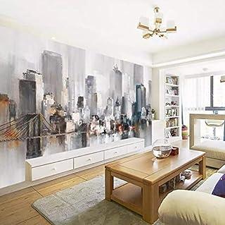 3D No Tejido Papel Pintado Retro Pintura Al Óleo Abstracta Tv Fondo Papel De Pared Ciudad De Nueva York Paisaje Mural Dormitorio Sala Sofá Video Pared, 300 Cm * 210 Cm