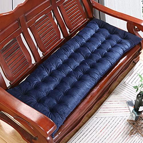 KenKia - Cuscino per panca da 8 cm di spessore, per panca e divano, morbido, cuscino per sedia a dondolo, per giardino all'aperto (blu, 48 x 160 cm)