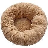 Yodio Cama redonda para perros y gatos, con forma de donut de peluche