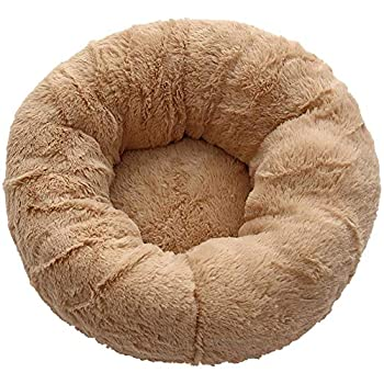 TREESTAR Pet Bed Plush Kennel Deep Sleep Round Kennel Can Reduce The Fatigue of Cats and Dogs and Improve Sleep -S