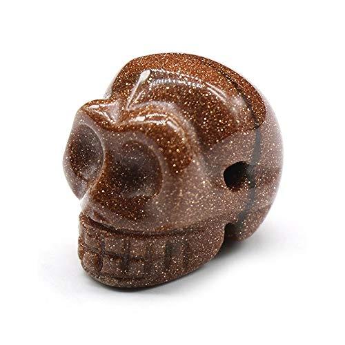 TCross 1 colgante de azada, ágata de cristal natural, piedras semitesoros, adornos pequeños para manualidades de Halloween (color arena dorada)