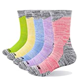 YUEDGE Women's Breathable Cotton Cushion Crew Athletic Hiking Socks...