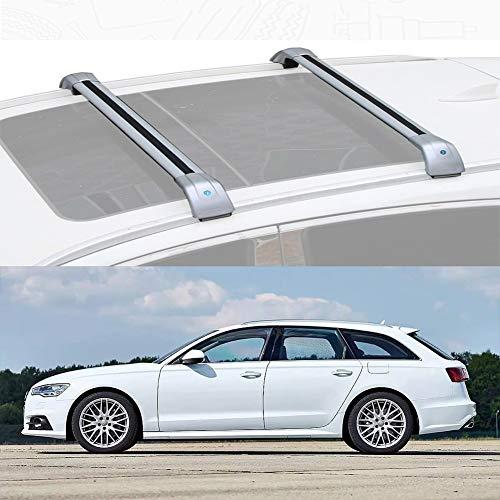 LLDS Aluminiumlegierung Dachträger Querstange Dachspannstangen Kompatibel mit A6 Avant 2013-18 (Color : Silver, Size : for Audi A6 Avant 2016)