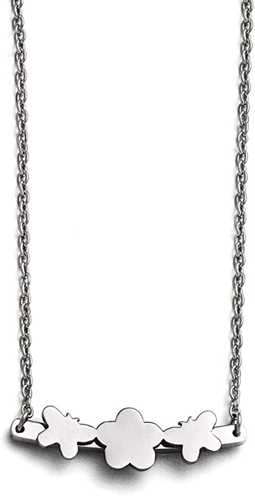 Chain Necklace Fees free!! White Stainless Steel pendant 17.75 with in Tucson Mall