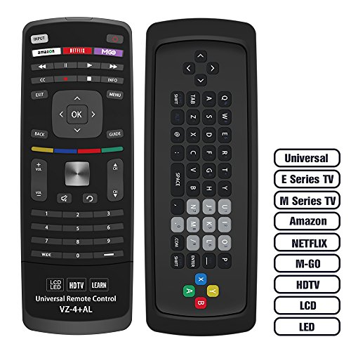 Gvirtue Universal TV Remote Control GVZ-4 for Almost All Vizio Brand LED LCD Smart E Series TV Smart Internet Apps with Amazon, Netflix and M-GO Keys, Sub XRT112 XRT100 VR1 2 10 15...
