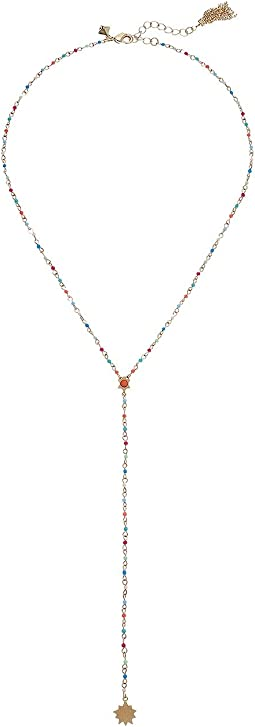 Sole Beaded Y-Necklace