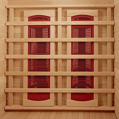 HeatWave BSA2406 2-Person Deluxe Ceramic Infrared Sauna, 1-2