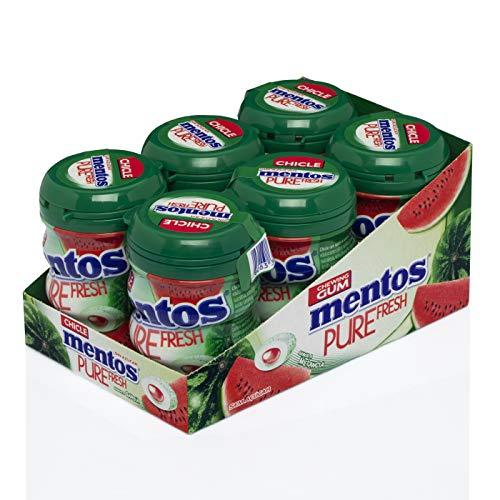 MENTOS Chicle Sandía, Sin Azúcar - 6 Unidades de 60 Gr/Ud 360 g
